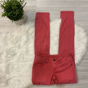 Maurices Pink Distressed Skinny Jeans